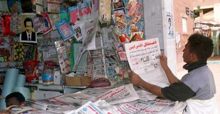 Sudanese security forces have seized the print runs of 10 newspapers and suspended the publishing licences of four of them in a major media crackdown.  By Salah Omar (AFP/File)