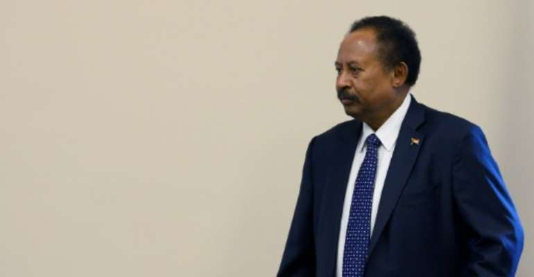Sudanese Prime Minister Abdalla Hamdok meets with the House Foreign Affairs Committee in Washington.  By JIM WATSON (AFP)