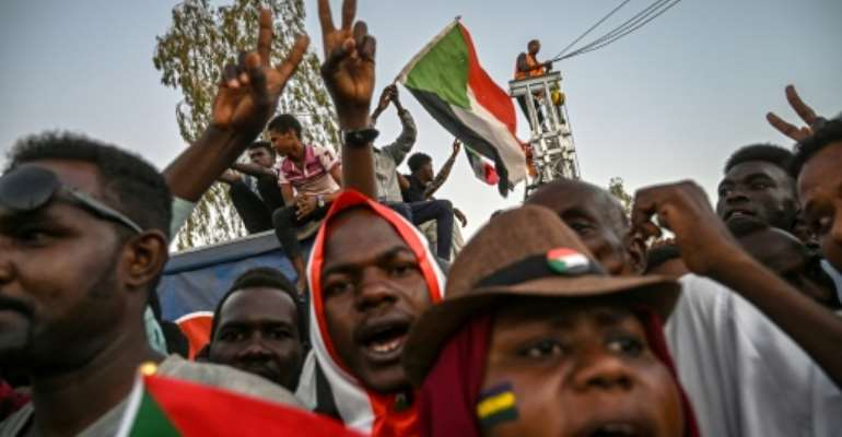 Sudanese protesters accuse the army rulers of being little different from the ousted regime.  By OZAN KOSE (AFP)