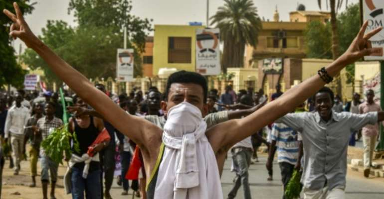 Sudanese protesters first took to the streets in December after authorities tripled the price of bread.  By Ahmed MUSTAFA (AFP)