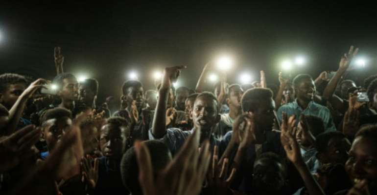 Sudanese protesters have been demanding civilian rule.  By Yasuyoshi CHIBA (AFP)