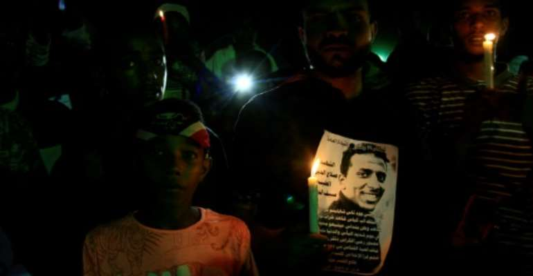 Sudanese protesters have staged vigils calling for justice for those killed on June 3.  By EBRAHIM HAMID (AFP/File)