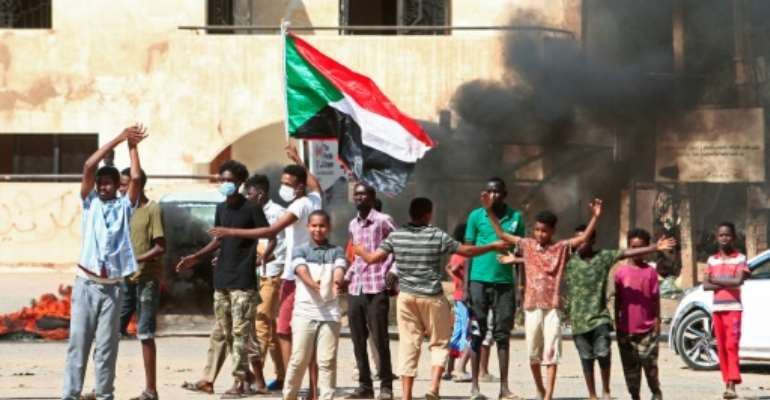 Sudanese protesters take to the streets against a worsening economic crisis and to demand justice for people killed during past demonstrations that toppled president Omar al-Bashir.  By Ebrahim HAMID (AFP)
