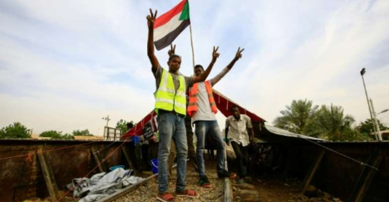 Sudanese protesters want the ruling military council to cede power.  By ASHRAF SHAZLY (AFP)