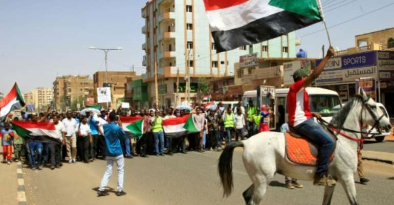 Sudanese protestors were holding a massive rally in Khartoum on Thursday to put pressure on the military council after talks ran into trouble.  By Ebrahim Hamid (AFP)
