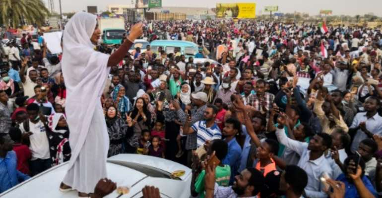 Sudanese student Alaa Salah shot to prominence after an image of her leading demonstrators in chants in Khartoum went viral.  By - (AFP)
