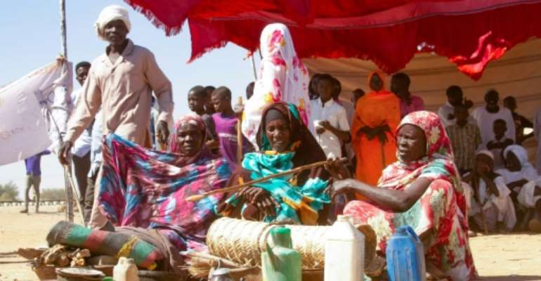 Sudanese women in December protested the end of the mandate of the UN peacekeeping mission in Darfur, where violence has erupted again claiming more than 130 lives.  By - (AFP/File)
