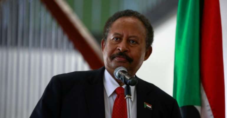 Sudan's government, including Prime Minister Abdalla Hamdok, agreed a peace deal with rebels.  By ASHRAF SHAZLY (AFP)