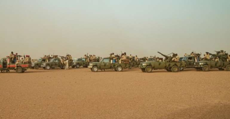 Sudan's Rapid Support Forces (RSF) is a feared paramilitary group who protesters and aid organisations claim were responsible for a deadly crackdown on a protest camp in Khartoum that killed dozens.  By Yasuyoshi CHIBA (AFP/File)