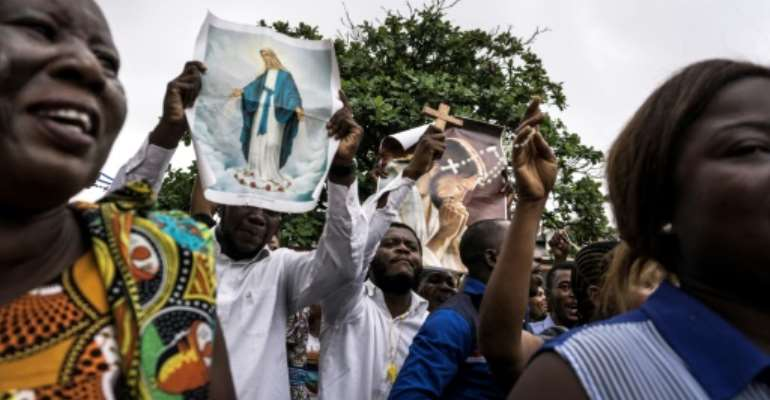 Sunday's march in Kinshasa has been called by the Lay Coordination Committee, an organisation close to the church, an influential social and spiritual force in the Democratic Republic of Congo.  By John WESSELS (AFP/File)