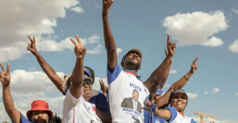 SWAPO's historic challenger, the Popular Democratic Party (PDM), is overshadowed by its affiliation with apartheid South Africa before independence, which continues to deter voters.  By GIANLUIGI GUERCIA (AFP/File)