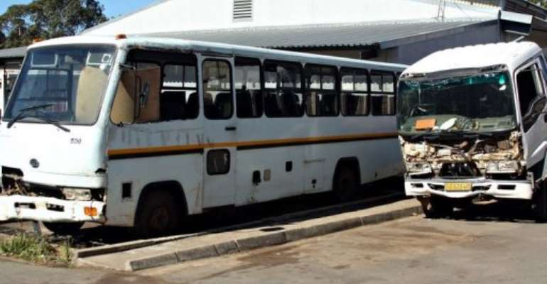 Government vehicles of Swaziland's Kingdom are pictured in the Central Transport depot of Mbabane in July.  By  (AFP/File)