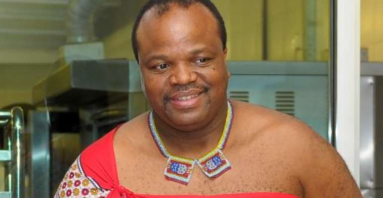 King Mswati III of Swaziland is pictured on July 3, 2013.  By Mohd Rasfan (AFP/File)