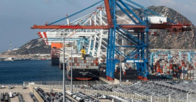 Tangiers is the location of the Mediterranean's biggest maritime cargo terminal.  By - (AFP/File)