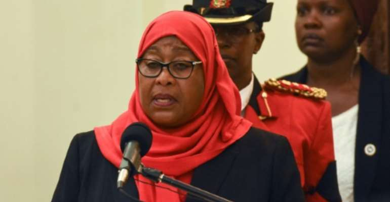 Tanzanian President Samia Suluhu Hassan took over last month from John Magufuli, who downplayed the scale of the Covid pandemic.  By STR (AFP)