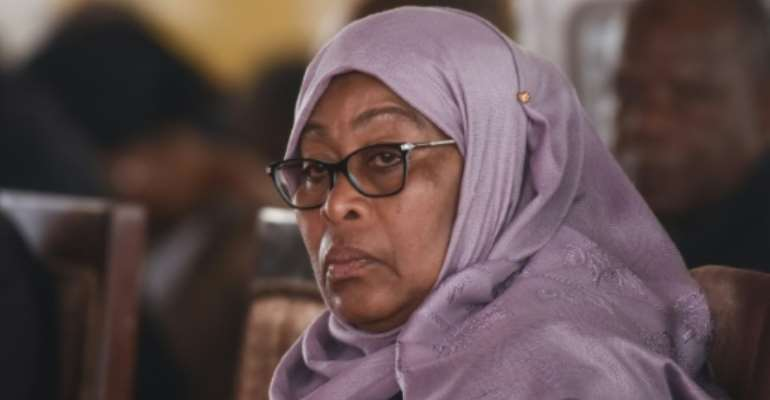 Tanzania's President  Samia Suluhu Hassan took office in March.  By - (AFP/File)