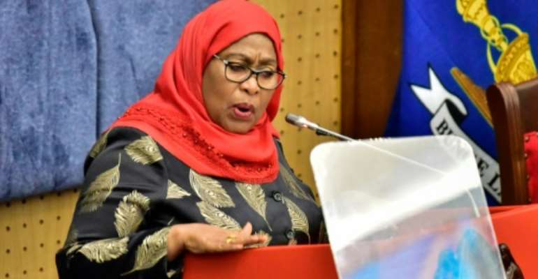 Tanzania's President Samia Suluhu Hassan became the country's first woman head of state in March.  By - (AFP/File)