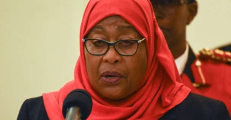 Tanzania's President Samia Suluhu Hassan will launch the vaccination campaign.  By STR (AFP/File)