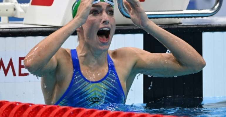 Tatjana Schoenmaker smashed a world record and won South Africa's first Olympic swimming gold medal for 25 years.  By Oli SCARFF (AFP)