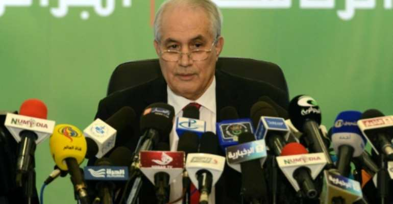 Tayeb Belaiz quit Tuesday as head of Algeria's constitutional council.  By Farouk Batiche (AFP/File)