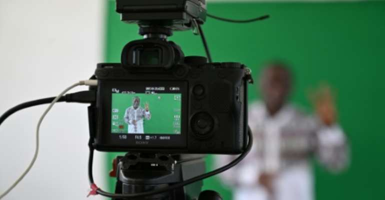 Teachers in Africa have been recording lessons for broadcast but not all students are able to benefit.  By ISSOUF SANOGO (AFP)