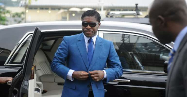 Teodorin Obiang, the vice president of Equatorial Guinea, is accused of spending more than 1,000 times his official annual salary on a playboy lifestyle in Paris.  By JEROME LEROY (AFP/File)