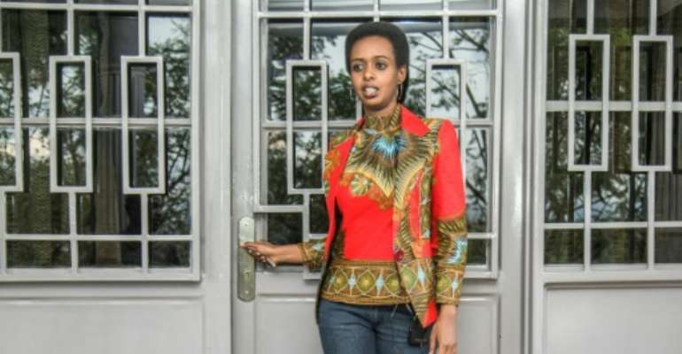 The 37-year-old Rwandan politician Diane Rwigara struck a defiant tone in an interview with AFP ahead of her trial for treason, insurrection and forgery.  By Cyril NDEGEYA (AFP/File)