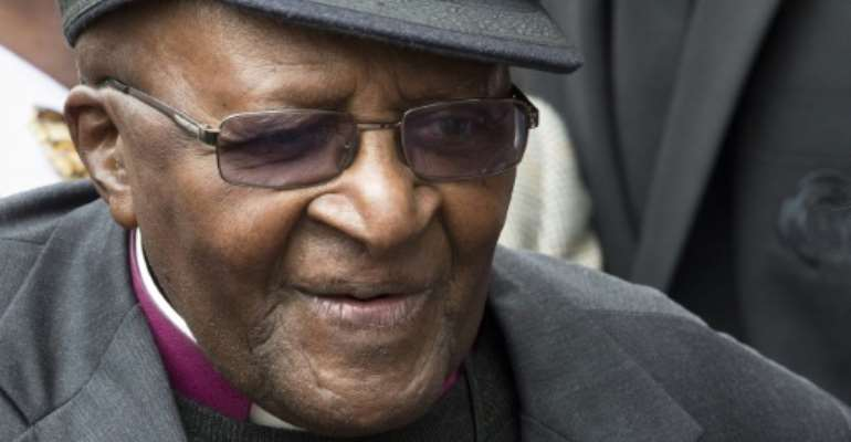 The 88-year retired archbishop was hospitalised in Cape Town on Wednesday for a infection.  By RODGER BOSCH (AFP/File)