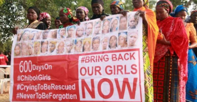 The abduction of the Chibok schoolgirls triggered worldwide revulsion.  By STRINGER (AFP)