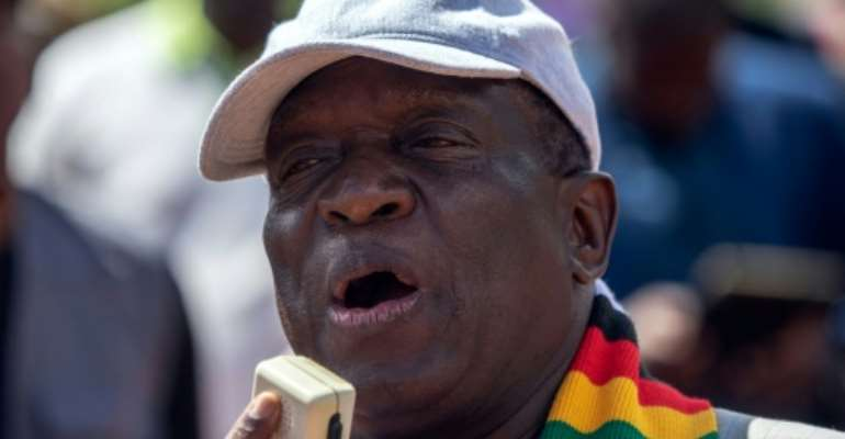 The activists are accused of attending a workshop on how to overthrow the government of Zimbabwe's President Emmerson Mnangagwa.  By ZINYANGE AUNTONY (AFP/File)