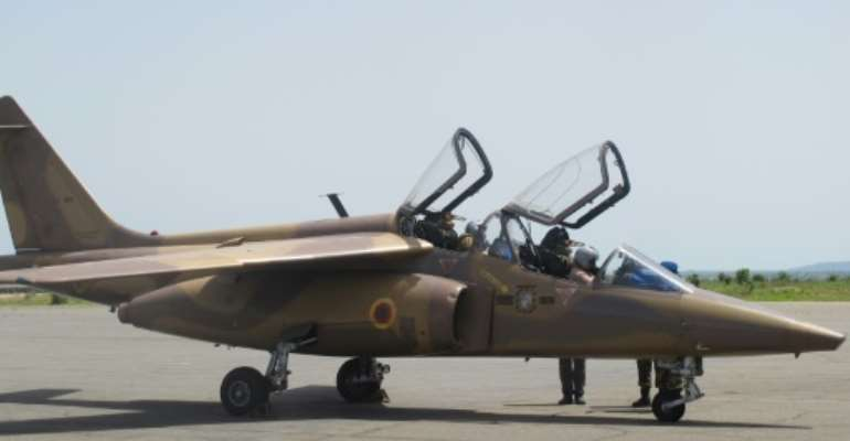 The Alpha Jet is a light attack aircraft and trainer made by a Franco-German consortium in the 1970s and 80s. Above: An Alpha Jet in use in the Cameroon Air Force in 2014.  By Reinnier KAZE (AFP)