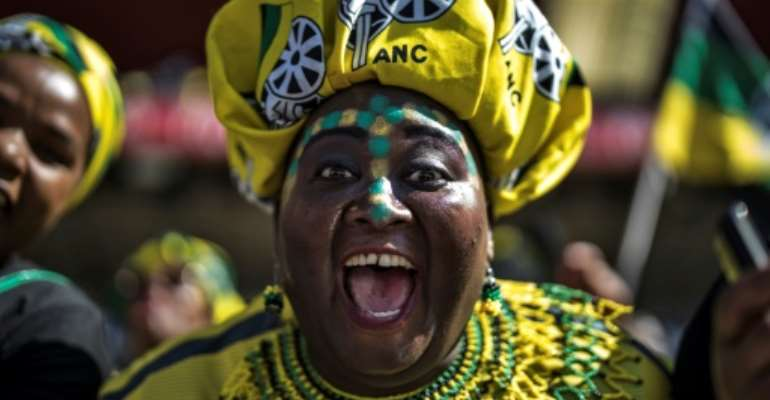 The ANC won 2009 elections by 65.9 percent and Zuma became the first Zulu president.  By MARCO LONGARI (AFP/File)
