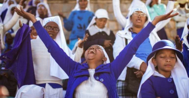 The Apocalypse Church in Madagascar has won many poor converts.  By GIANLUIGI GUERCIA (AFP)