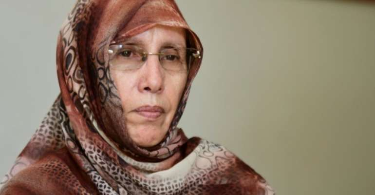The Association of Women Heads of Family (AFCF), whose president is Aminetou El Moctar, is spearheading the struggle for change in Mauritania.  By SEYLLOU (AFP)