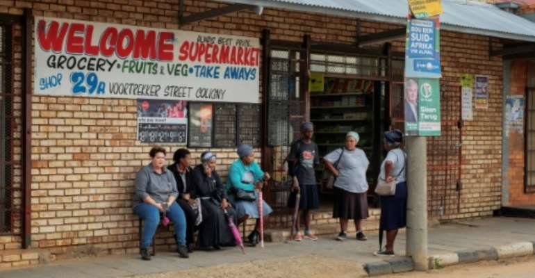 The atmosphere in Coligny remains fragile after the 2017 killing of a black teen by two Afrikaner farmers.  By LUCA SOLA (AFP)