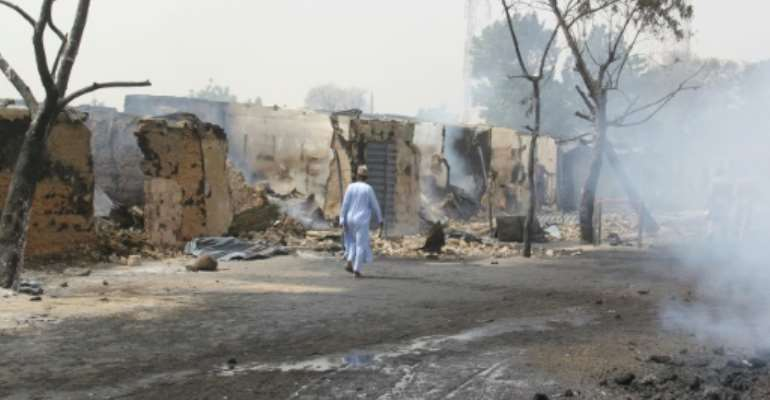 The attack Sunday evening targeted the village of Auno on a key highway.  By AUDU MARTE (AFP)