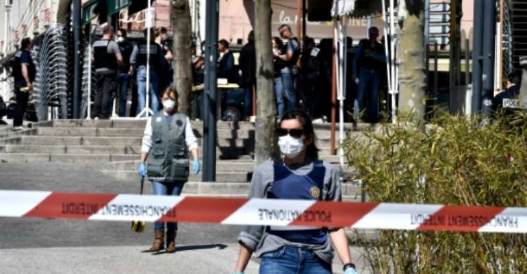 The attack took place in the southeastern town of Romans-sur-Isere.  By JEFF PACHOUD (AFP)