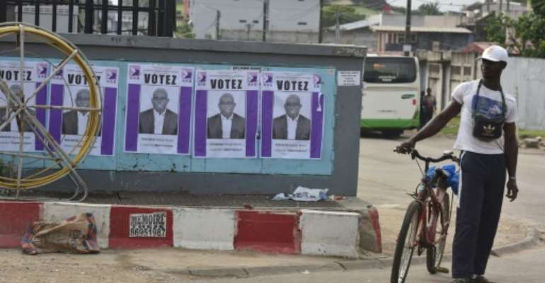 The average age in Ivory Coast is just 19, while the leading candidates in the presidential election are aged 78 and 86.  By Issouf SANOGO (AFP/File)