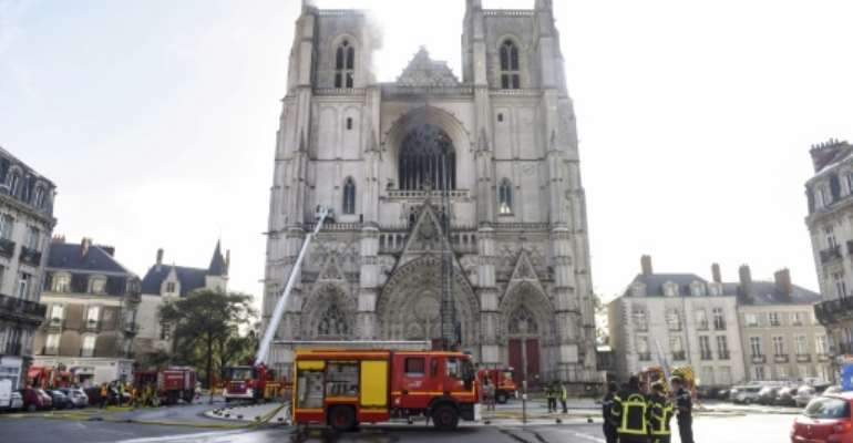 The blaze destroyed  the 17th-century organ of the cathedral in Nantes, as well as priceless artefacts and paintings.  By Sebastien SALOM-GOMIS (AFP/File)