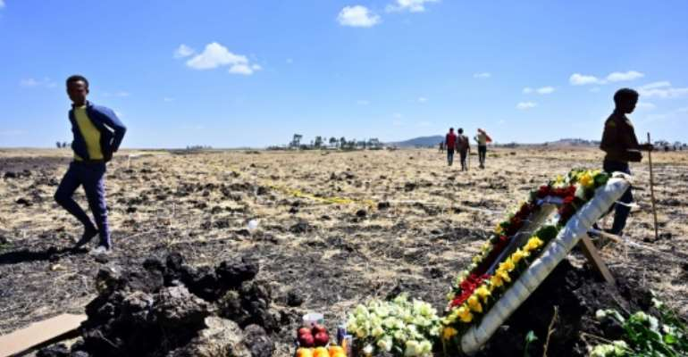 The Boeing 737 MAX 8, operated by Ethiopian Airlines, crashed on March 10, southeast of Addis Ababa.  By TONY KARUMBA (AFP/File)