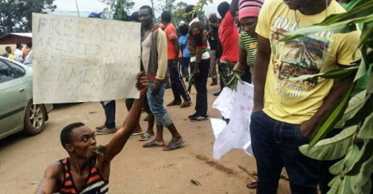 The bombings come after demonstrators in English-speaking parts of Cameroon have protested against perceived discrimination in favour of the country's francophone majority.  By STRINGER (AFP/File)
