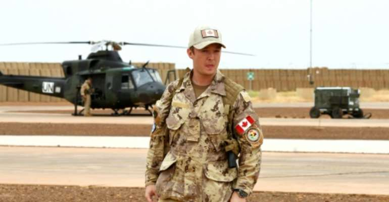 The Canadian forces will carry out medical evacuations in the north of Mali.  By SEYLLOU (AFP)