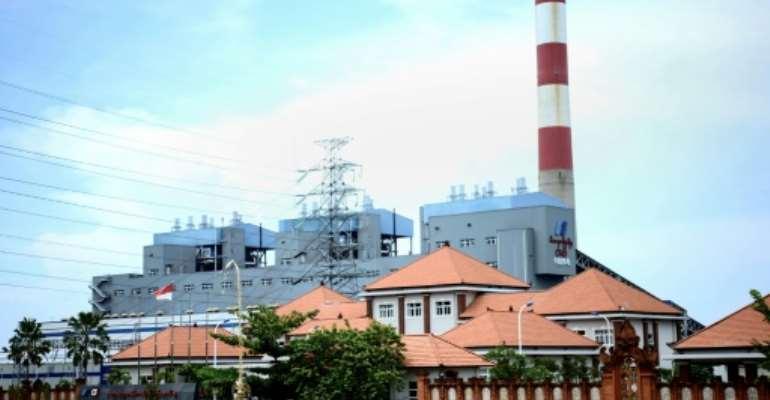 The Celukan Bawang 2 power plant in Singaraja on Indonesia's resort island of Bali is seen in October 2020.  By Sonny Tumbelaka (AFP/File)