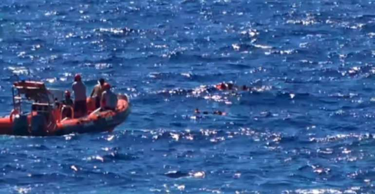 The charity boat Open Arms had spent six days off the Italian island of Lampedusa.  By - (LOCALTEAM/AFP)
