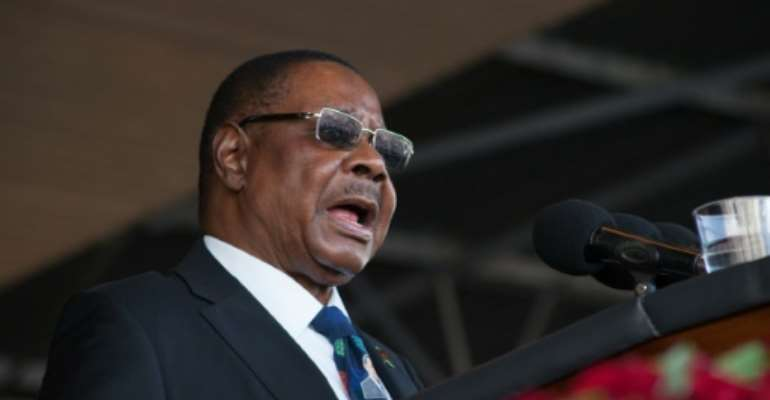 The Constitutional Court overturned President Peter Mutharika's election victory -- an unprecedented ruling in Malawi's history and only the second in Africa.  By AMOS GUMULIRA (AFP/File)