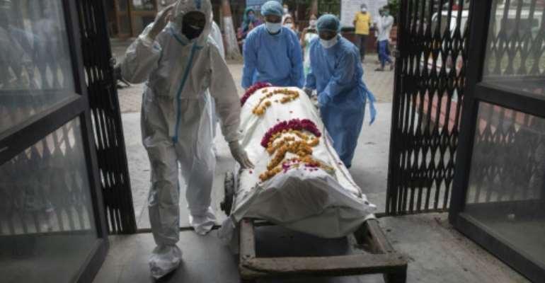 The coronavirus pandemic has claimed more than 800,000 lives across the world.  By Xavier GALIANA (AFP)