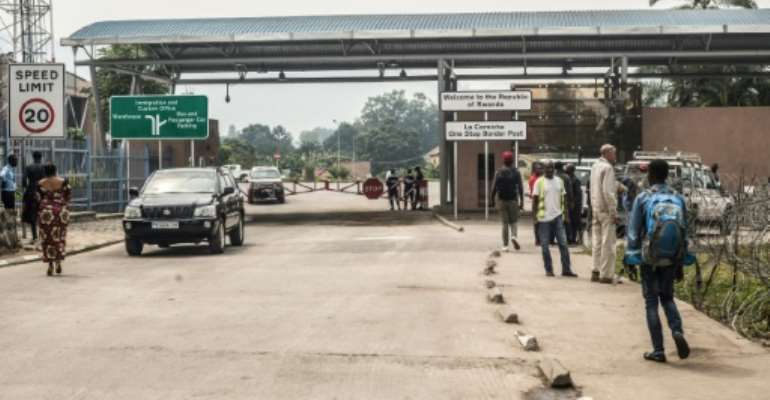 The crossing point to Rwanda at Goma was deserted Thursday.  By Pamela Tulizo (AFP)