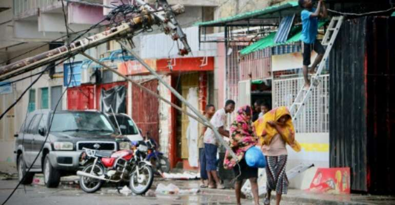 The cyclone struck last week and killed 84 people in Mozambique, including 55 in the city of Beira alone.  By ADRIEN BARBIER (AFP)