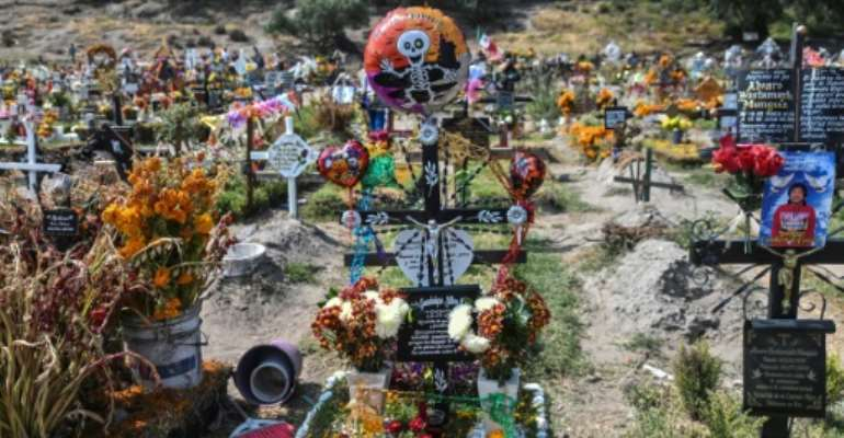 The Day of the Dead takes on additional meaning owing to the coronavirus pandemic.  By PEDRO PARDO (AFP)