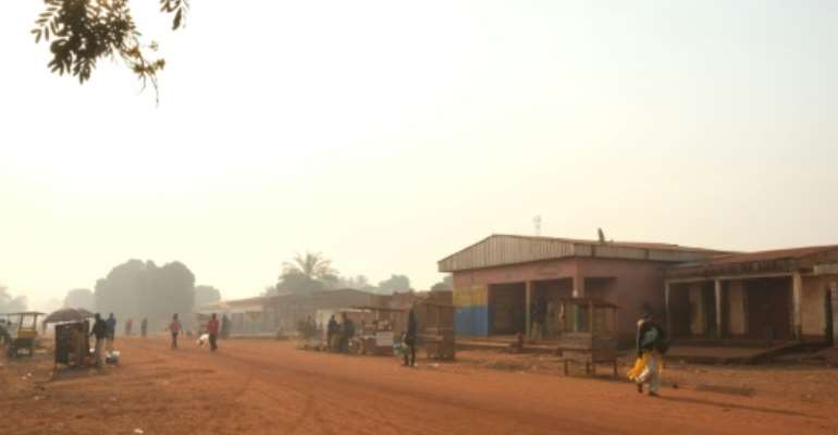 The dusty diamond trading hub of Bria has been ravaged by violence.  By CAMILLE LAFFONT (AFP/File)